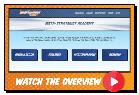 Meta-Strategists Academy video overview button