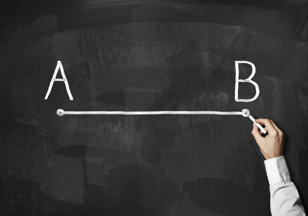 A to B / Blackboard concept (Click for more)